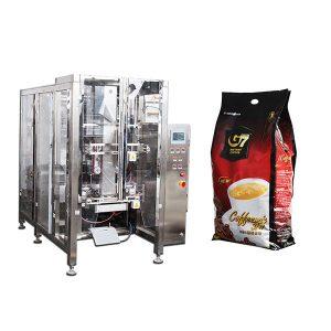 kafe quad qese formë të mbushur vulën makinë paketimi