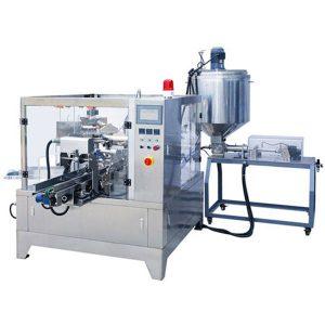 Premade Pouch Liquid & Paste Paketimi Machine
